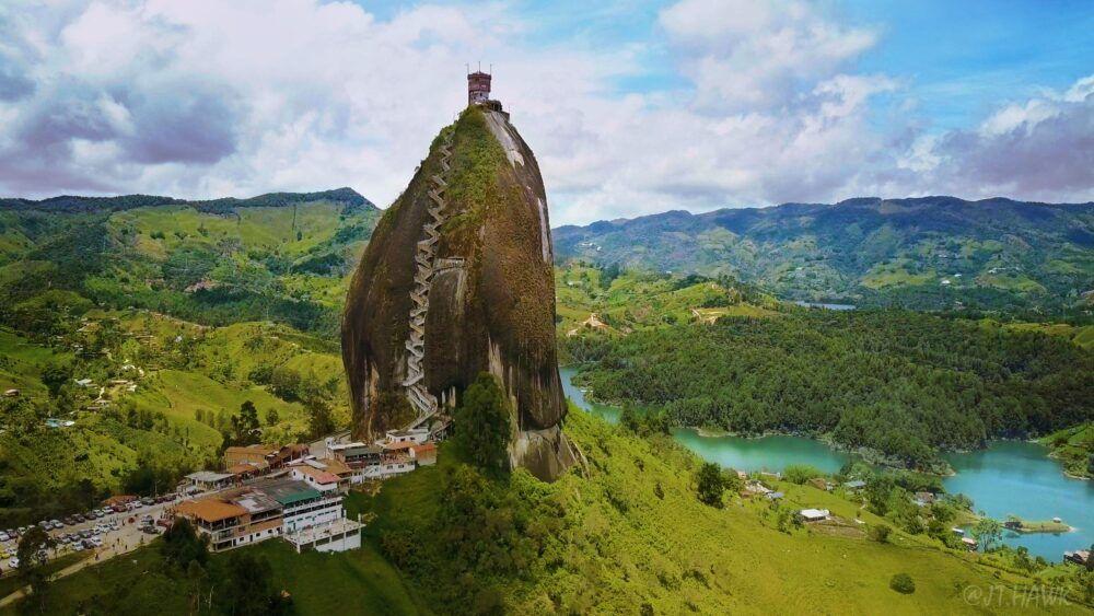 Dónde está la Piedra del Peñol, Colombia?